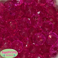 22mm Hot Pink Abacus Bubblegum Beads
