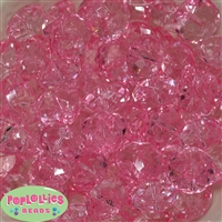 22mm Clear Pink Abacus Bubblegum Beads