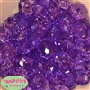 22mm Clear Purple Abacus Beads