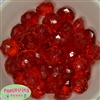 22mm Clear Red Abacus Bubblegum Beads