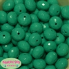 22mm Turquoise Abacus Bubblegum Beads