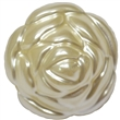 24mm Cream Pearl Rose Flower Bead
