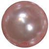 24mm Baby Pink Faux Pearl Bubblegum Beads