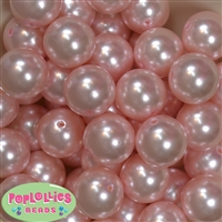 24mm Bulk Baby Pink Faux Pearl Beads