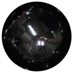 24mm Black Faux Pearl Bubblegum Beads