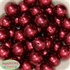24mm Burgundy Faux Pearl Bubblegum Beads