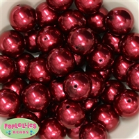 24mm Burgundy Pearl 10 Beads