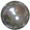 24mm Gray Acrylic Faux Pearl Bubblegum Beads