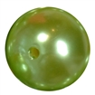 24mm Lime Faux Pearl Bubblegum Beads