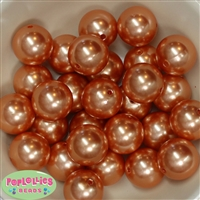 24mm Orange Pearl 10 Beads