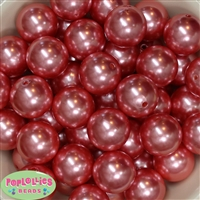 24mm Salmon Pearl 10 Beads