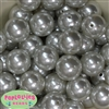 24mm White Faux Pearl 10 Beads