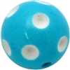 24mm Turquoise Blue Polka Dot Acrylic Bubblegum Beads