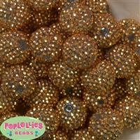 24mm Gold Rhinestone Bead 10pc
