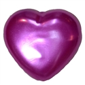 25mm Hot Pink Pearl Heart Bead Pendant