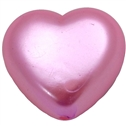 25mm Pink Pearl Heart Bead Pendant