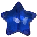27mm Royal Blue Clear Star Shaped Acrylic Beads