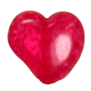 27mm Chunky Crackle Hot Pink Heart Bead