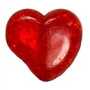 27mm Chunky Crackle Red Heart Bead