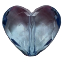 29mm Chunky Clear Heart Bead