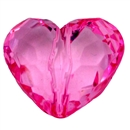 29mm Chunky Clear Pink Heart Bead