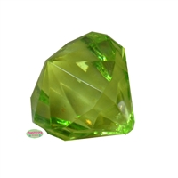 Small Lime Green Gem Pendant