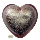 30mm Pink Metallic Heart Bead Pendant
