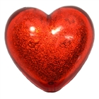 25mm Red Pearl Heart Bead Pendant