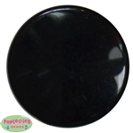 32mm Black Acrylic Plastic Disc Bubblegum Beads