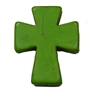 36mm Green Cross Bead