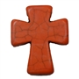 36mm Orange Cross Bead