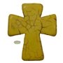 36mm Yellow Cross Bead