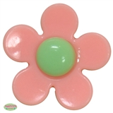 37mm Salmon and Mint Flower Bead