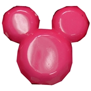 Hot Pink Solid Mouse Beads