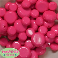 38mm Hot Pink Mouse Bubblegum Beads