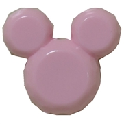 38mm Pink Mouse Bubblegum Beads