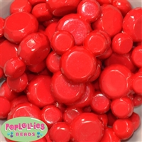 Red Solid Mouse Beads