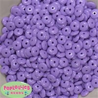4mm Lavender Acrylic Donut Shape Spacers 50pc