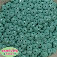 4mm Turquoise Acrylic Donut Shape Spacers 50pc