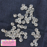 4mm Clear Facet Acrylic Spacer Beads