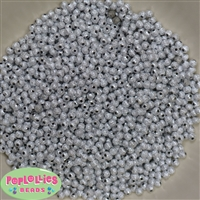 Bulk 4mm Silver Stardust Spacer Beads