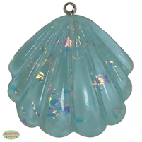 Light Blue Glitter Acrylic Seashell Pendant