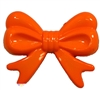 45mm Orange Bow Bubblegum Beads