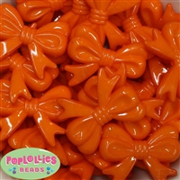 Bulk 45mm Orange Bow Beads