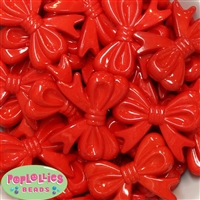 45mm Red Bow Bubblegum Beads Bulk