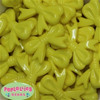 45mm Yellow Bow Beads