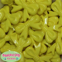 45mm Yellow Bow Bubblegum Beads Bulk