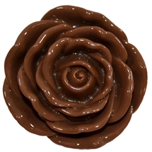 45mm Brown Acrylic Rose Flower Beads