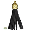 50mm Black Leather Look Tassel