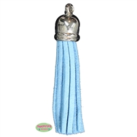 50mm Blue Leather Look Tassel